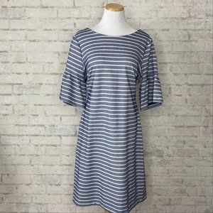 Ivanka Trump   Blue & White Striped Chambray Dress